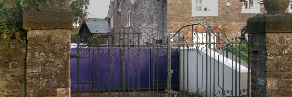Photograph - Flood gates in the closed position 