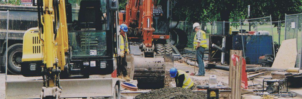 Photograph - Sewer works, Leamington Spa